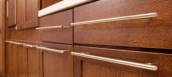 how to refinish metal cabinet pulls