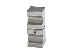 Square Thumb Shape Bathroom Glass Door Stainless Steel Knobs And Handles
