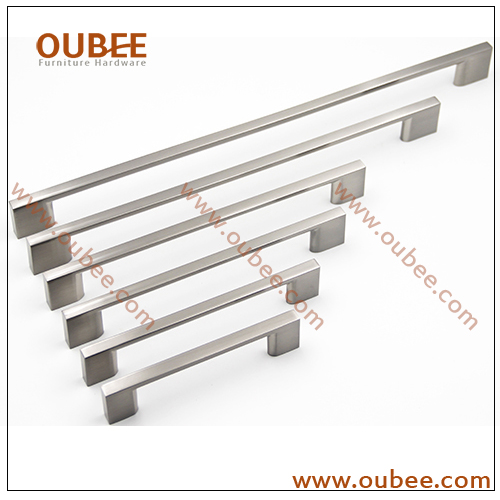 China Manufacturers Kitchen Cabinet Handles And Pulls Modern Style In Brushed Nickel
