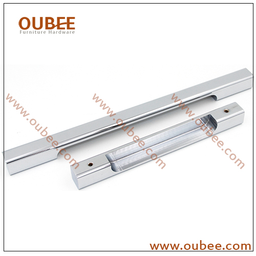 Fashion Design Aluminium Square Slim Drawer Pull Cabinet Handle