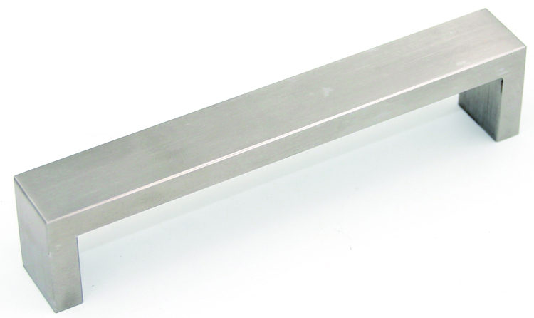 Flat Square Solid Stainless Steel Decorative Handle Drawer Pull