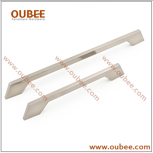 Flat Slim Cabinet Door Handles Brushed Nickel