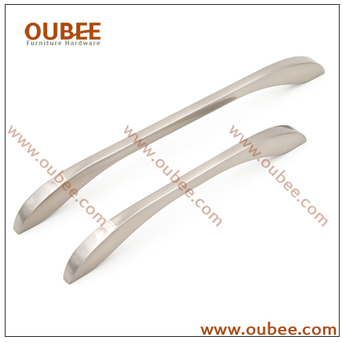 Custom Kitchen Cabinet Handles In Brushed Nickel Finish