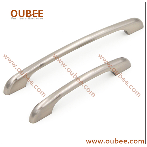 Furniture Decorative Hardware Zinc Alloy D Handle Brushed Nickel