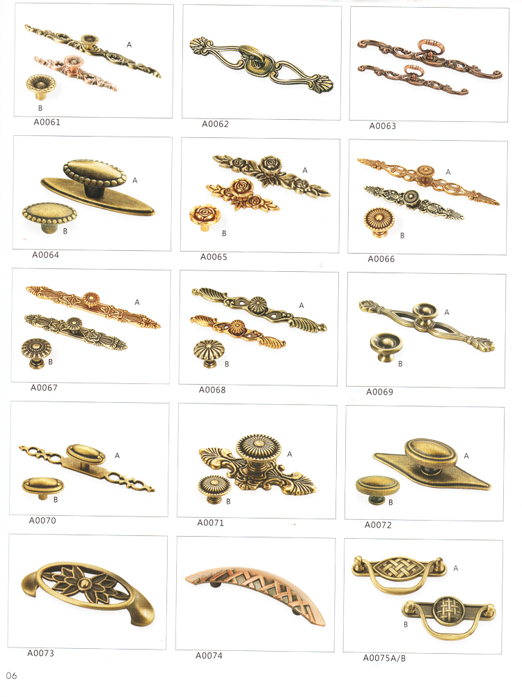 Antique Brass Furniture Drawer Pull Kitchen Cabinet Door Handles