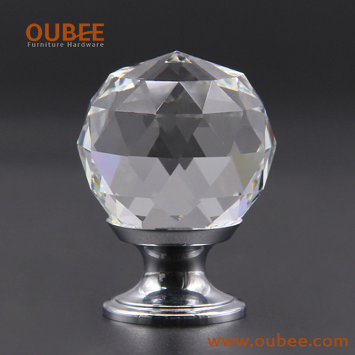Decorative Hardware Furniture Drawer Crystal Glass Knobs China Supplier