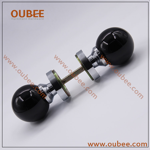 Level Crystal Door Knobs With Chrome Plated Black Color