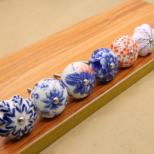China ceramic hardware supplier small ceramic knobs wholesale porcelain drawer knobs for kitchen cabinet