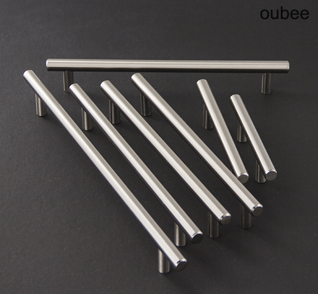 Steel T Bar Handles Iron Drawer Pulls Bar Kitchen Cabinet Handles Furniture Hardware Made in China Manufacturer